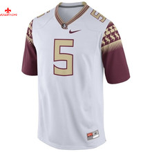 Nike Florida State Seminoles Jameis Winston 5 White Limit Ice Hockey Jerseys(China)