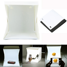 Creative LED Light Room Photo Studio Photography Lighting Tent Kit Backdrop Cube Mini Box home decoration accessories(China)