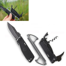 RyingL multi-function folding knife camping knife Outdoor Survival knife multi-tool knife combination self-defense(China)