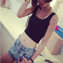 Crop Tops Women 2016 Short Tank Top 7 Colors Summer Style U Croptops Fitness Tank Tops Femme Vest Bustier Crop Top