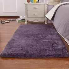 Modern Bedroom Bedside Table Square Yoga Carpet Floor Mats Living Room Carpet Mechanical Wash Solid Huarache Rugs(China)