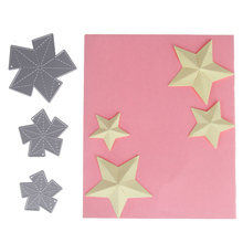 1Set/3pcs Customized Star Cut Die Embossing Carbon Steel Cutting Dies Stencils DIY Scrapbooking Card Album Template Craft(China)