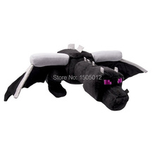 "Original Minecraft 22"" Ender Dragon Plush Toys Black Minecraft Enderdragon Toy(China)"