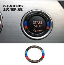 Buy bmw e90 e92 e93 Carbon Fiber Car styling Engine Start Stop Ring M Stripe Trim Circle Ignition Key Ring 3 Series Accessories for $6.20 in AliExpress store