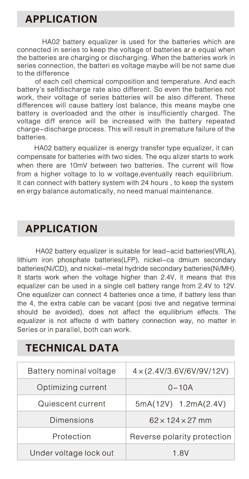 HA02 user manual