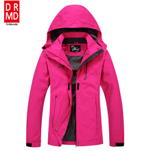 Outdoor Travel Rain Jacket Women Hiking Jacket Plus size Waterproof Solid Rose Camping Fishing Jacket Mountain Climbing Clothing