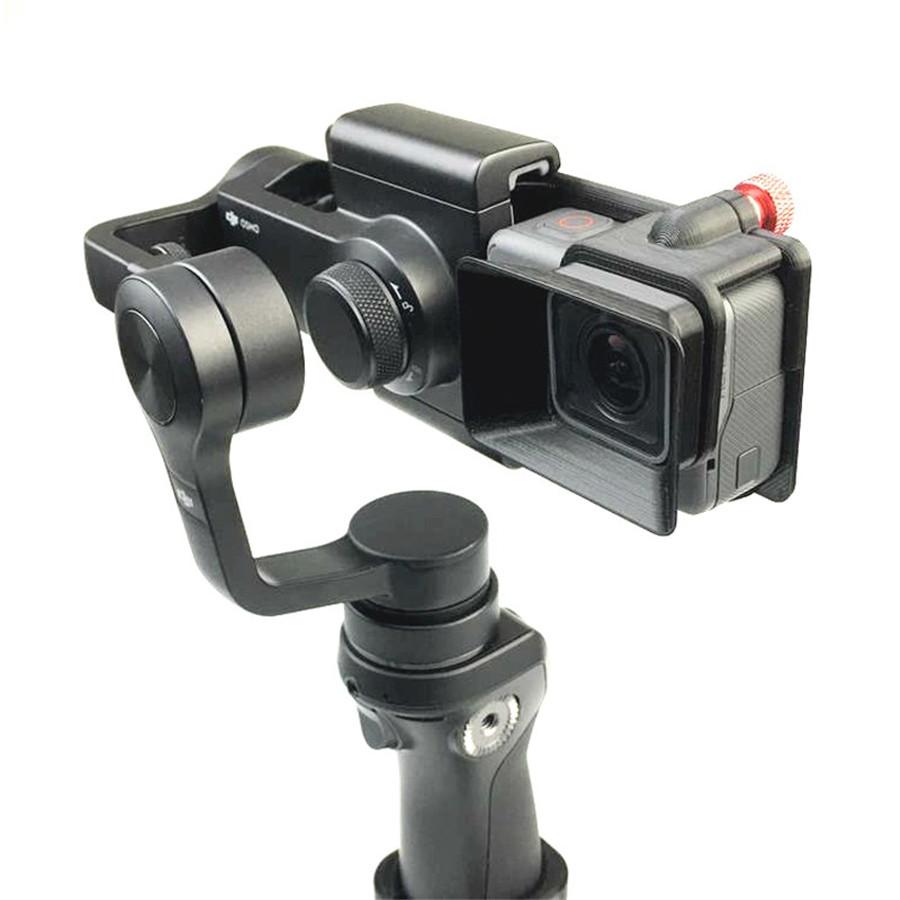 DJI OSMO Mobile Handheld Gimbal Turn Switch Mount Plate Camera Lens Sun Shade Hood for Gopro hero 5 DJI OSMO Z1-Smooth Zhiyun 2