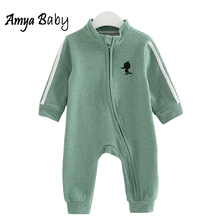 2017 Spring Newborn Baby Clothes Cartoon Baby Girl Rompers Infantil Baby Girls Boys Jumpsuit New Born Clothing Baby Rompers(China)
