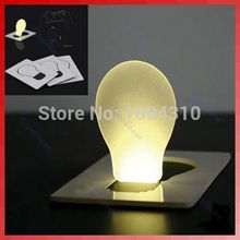 nice 1 pc Portable Pocket LED Card Light Lamp put in Purse Wallet(China)