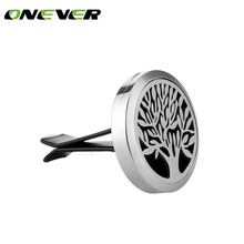 Car-styling Car Air Vent Freshener Diffuser Mini Stainless Steel Car Aromatherapy Essential Oil Fragrance Diffuser Tree of Life(China)