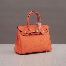 2017 Bolsa Feminina  Women Famous Brands Ostrich Split Leather Casual Tote Lock Hasp Bags HandbagsFashion Shoulder Bag