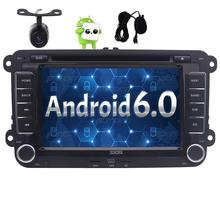 "7"" Android 6.0 Car Autoradio 2 Din GPS Navigation Car DVD Player for VW Volkswagen Jetta Golf Bluetooth FM AM Radio Wifi +Camera"