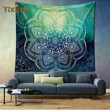 Indian Mandala Tapestry Hippie Wall Hanging Tapestries Boho Bedspread Beach Towel Yoga Mat Blanket Table Cloth 180*150/150*130cm