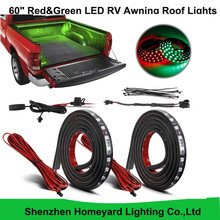 "1set/pcs 60"" Red&Green LED RV Awning Roof Lights Custom Made 90-5050-SMD Truck Bed Light for pickup"