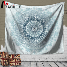 Miracille Mandala Tapestry Home Wall Art Hanging Indian Mandalas Blanket Belgium Decoration for Bedroom Dorm Yoga Mat Tablecloth(China)