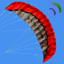 2.5m/8ft Dual Line power Stunt kite Parafoil Parachute Beach surfing sport with flying line 3 colors