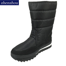 Buy Big size New 2017 women Winter Boots Shoes Snow Shoes Black warm Warm Waterproof Boots Cotton Plus Size Skid thick heel shoes for $18.72 in AliExpress store