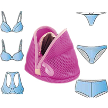 Women Bra Laundry Lingerie Washing Hosiery Saver Protect Mesh Small Bag  Aid Mesh Bag Cube Fashion Pastoral Style Storage Bags