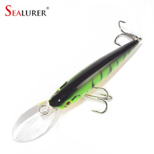 1PCS Quality 10 Colors 11cm 10.5g Isca Artificial Hard Bait Pesca Minnow Fishing lures wobbler crankbait 6# hook 3D eyes YE-73X