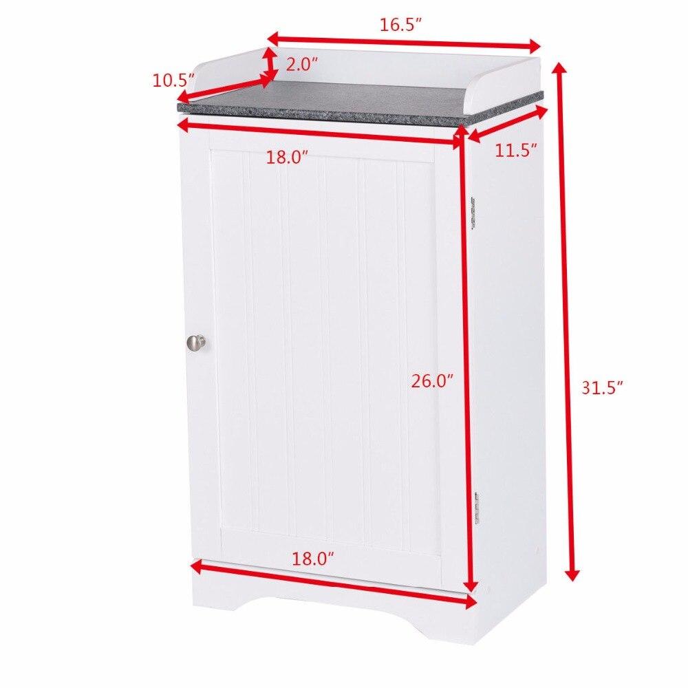 Giantex Bathroom Floor Storage Cabinet Freestanding Adjustable Shelves W/Single Door NEW Modern Bathroom Furniture HW57076 4