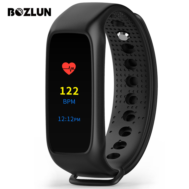 Bozlun LED Color Touch Screen Smart Wristband Men Sports Watches Tracker Heart Rate Monitor Women Digital Wristwatches L30T<br><br>Aliexpress