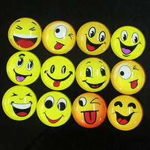 100pcs/lot Many Smiling Face Round Glass Dome Cabochon Jewelry Necklace Pendant Bracelet Earrings Glass Accessories