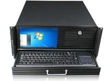 Server one piece machine 4U Chassis  belt 9 Inch LED screen keyboard ATX stand by large   power supply  case