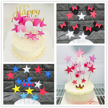 Children Party Decorating Dessert Station Pink Cartoon EVA Cake Topper Flags DIY Material Package Baby Shower Decoration