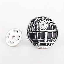J Store Movie Keepsake Star Wars Brooches For Men's Shirt Jewelry White Pawns Black Knight Round Brooch Pin Novelty Accessory
