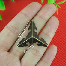 10 Pcs 23mm Antique Metal Corner Code Box Corner Foot Wooden Case Corner Protector Decorative Wrap Angle Products