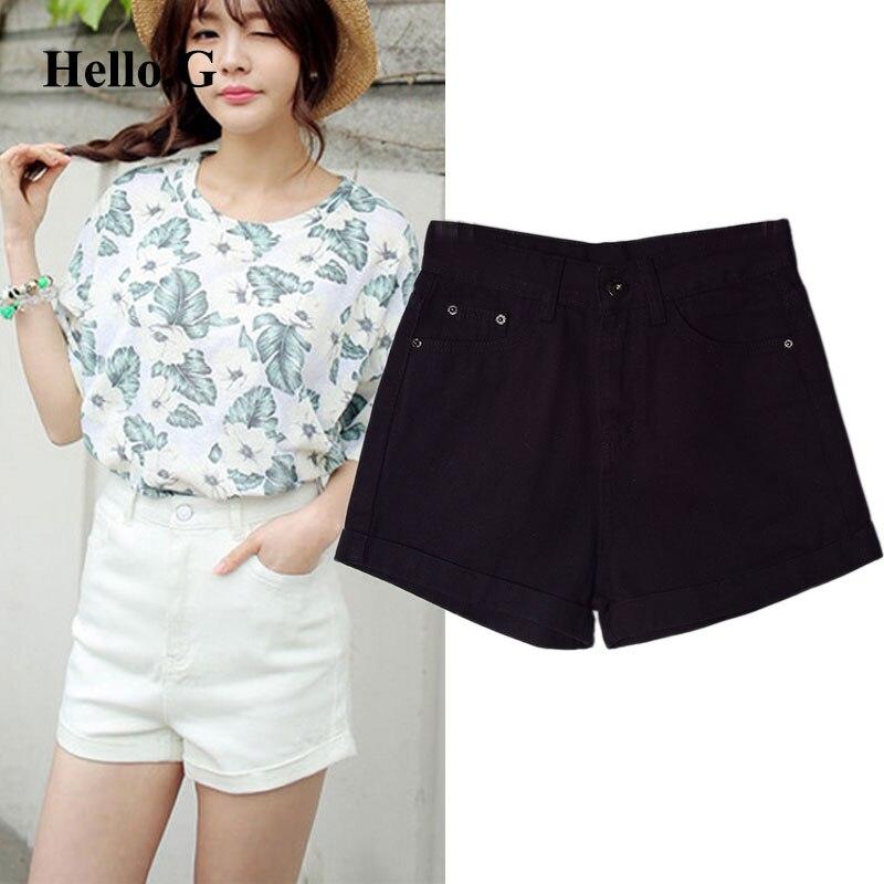 S-XL Summer Style White Black Blue Denim Jeans Shorts Women Loose High Waist Denim Shorts For Women Clothing 2016Одежда и ак�е��уары<br><br><br>Aliexpress