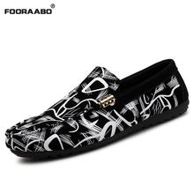 Buy Fooraabo Men Casual Shoes Flats 2017 Fashion Men Shoes Leather Men Loafers Moccasins Slip Men's Driving Male Shoes Black for $20.85 in AliExpress store