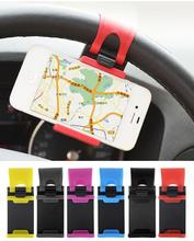 Car Bike Steering Wheel Clip Mount Holder Bracket For iPhone 4S 5 5S 5C for iPod for Samsung Galaxy S4 S5 Cell Phone GPS MP4 PDA