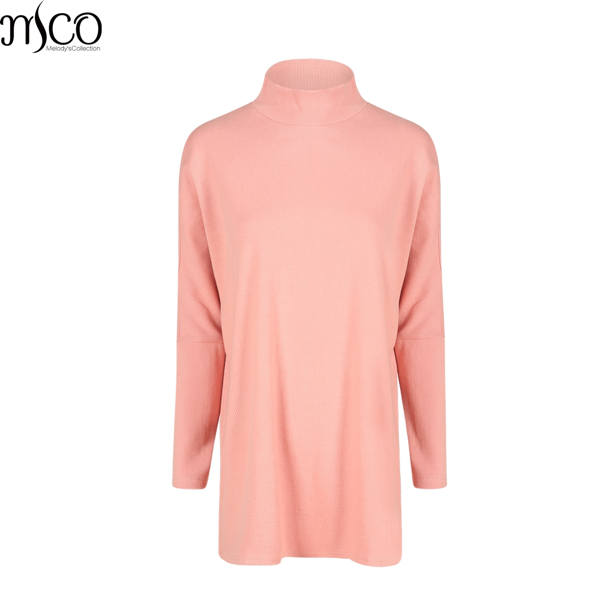 MCO 2017 Winter Turtle Neck Plus Size Knitted Top For Big Women Batwing  Sleeves Oversized Jumper 12dfe399a229