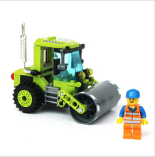 City Series Road Roller Forklift Truck Tractor Sweeper Truck Building Blocks Kids educational Toy Compatible lepin blocks