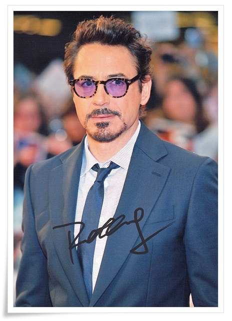 Robert Downey Jr. autographed signed original photo 4*6 inches collection freeshipping 01.2017 03<br>