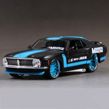 Miniature Race Mustang 1970 Boss 302 1:24 Metal Racing Vehicle Play Collectible Models Sport Cars toys For Gift