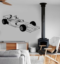 Wall Sticker Vinyl Decal Sport Formula 1 Racing Speed Car Bedroom Livingroom Home House Decoration Accessories Wallpaper WW-181(China)