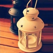 Metal small lantern mousse candle lamp birthday gift