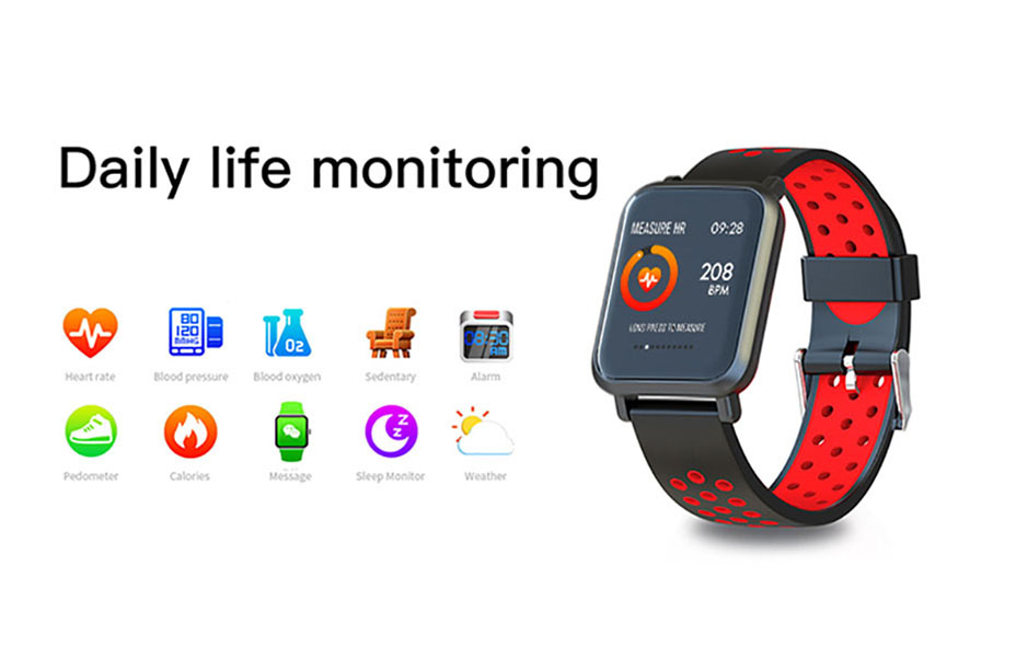 COLMI Smart Watch Men Tempered glass Fitness Tracker Blood pressure IP68 Waterproof Activity Tracker Women Smartwatch 12