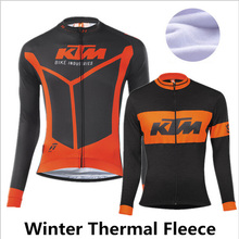 2017 New arrival KTM Winter cycling clothing Thermal fleece cycling jersey long mtb ropa ciclismo hombre bike cycling clothes