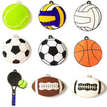 (Choose Design First) 10pcs/bag Sport Ball Series 2 Enamel Football,Basketball,Volleyball,Baseball,Rugby,Tennis Pendant For Kids(China)
