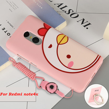 "Luxury Xiaomi Redmi Mi 4X Note Cartoon Silicone For Xiaomi Redmi note4x Case Cover Celular For note4x Cases 5.5"" Mobile Pop sock"