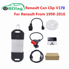 DHL Free Renault Can Clip V170 Auto Diagnostic Tool Support Multi-languages V170 CAN Clip Support For Renault 1998-2016(China)