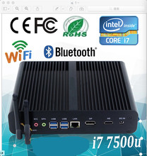 Mini pc x86 i7 processor thin client mini pc dual core 7500u linux mini server itx case support bluetooth(China)