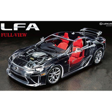 OHS Tamiya 24325 1/24 LFA Full View Version Transparent Car Assembly Scale Car Model Building Kits