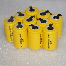 10 12 16PCS Sub C 4/5SC 1.2V rechargeable battery 1800mah 4/5 SC ni-mh nimh cell with welding pins tab for electric drill