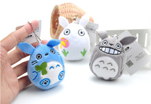 Kawaii 3Colors - NEW 9CM TOTORO Plush Keychain DOLL TOY Plush Stuffed TOY DOLL ; BAG Pendant TOY Gift DOLL