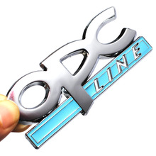 3D Metal OPC LINE Emblem Car Side Fender Tail Badge Sticker for OPEL Zafira b Corsa d Insignia Mokka Regal Astra g h Vectra c(China)