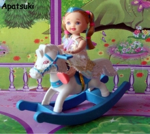 Kids Toy Play House Doll Accesorries Hobbyhorse For 1/12 Kelly Dolls Toys For Barbie Doll House Accessories(China)